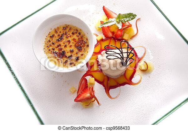 Gourmet dessert - csp9568433