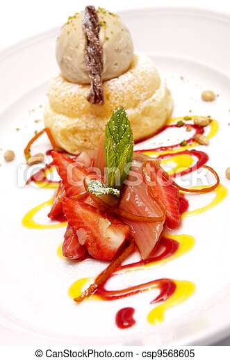 Gourmet dessert - csp9568605