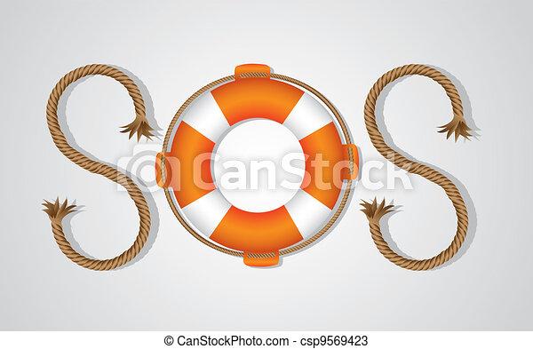 SOS signal - csp9569423
