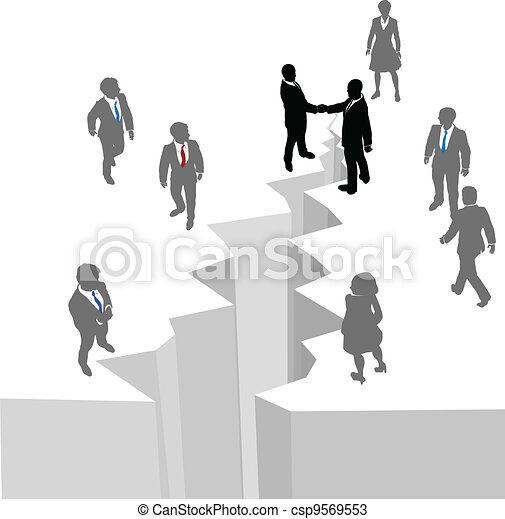 People handshake agreement close deal gap - csp9569553