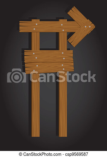 rectangle wooden signage - csp9569587