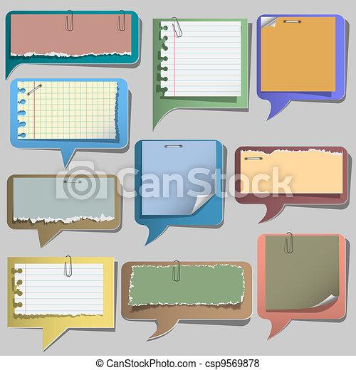 Torn paper speech bubbles - csp9569878