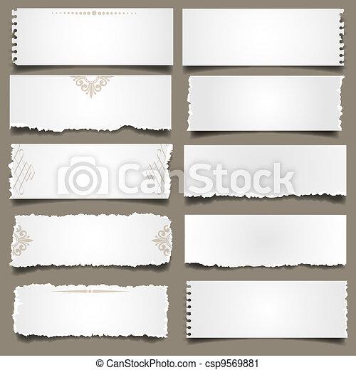 Ten notes paper  - csp9569881