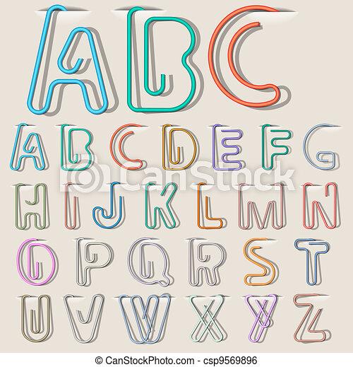 Clip paper alphabet  - csp9569896