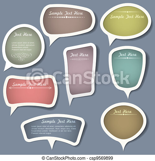 Speech bubbles with calligraphic elements - csp9569899