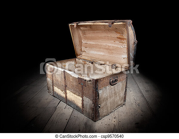 Empty treasure chest - csp9570540
