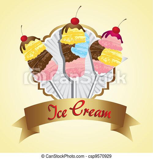 label ice cream  - csp9570929