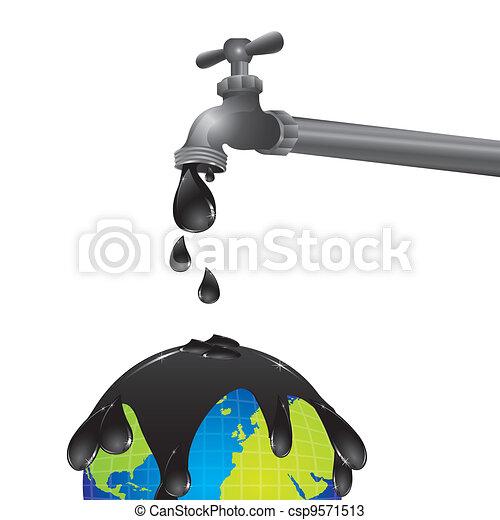 conceptual design of a faucet dripping - csp9571513