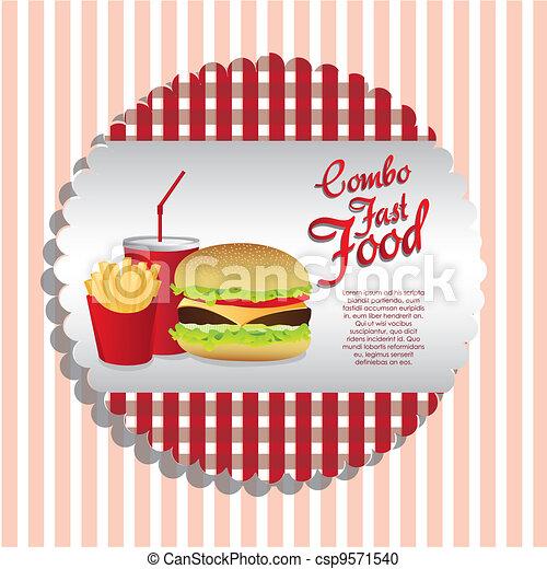 fast food combo  - csp9571540