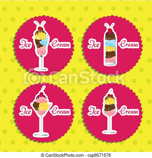 labels ice cream  - csp9571578
