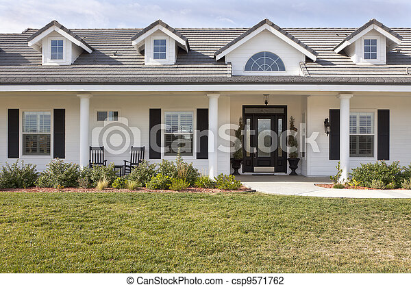 Newly Constructed Modern House Facade - csp9571762