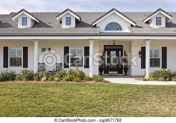 Newly Constructed Modern House Facade - csp9571762