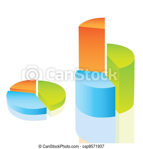 circular bar graph  - csp9571937