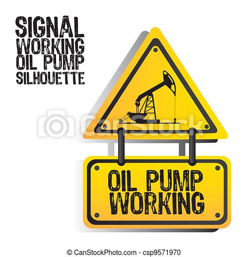 signal oil pump silhouette  - csp9571970