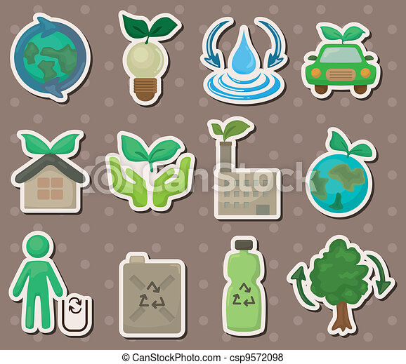 eco stickers - csp9572098