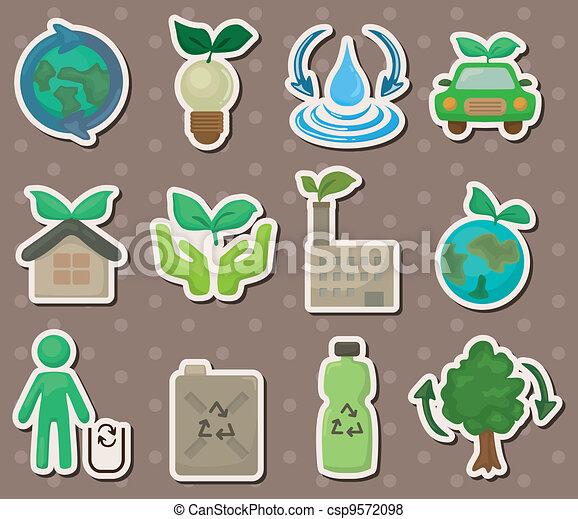 eco stickers - csp9572098