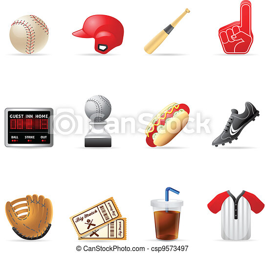 Web Icons - Baseball - csp9573497