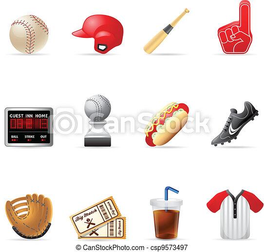 Web Icons - Baseball - csp9573497