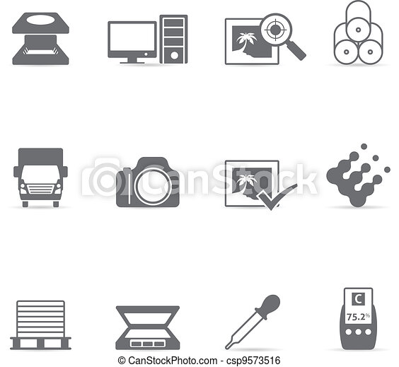 Single Color Icons - Printing - csp9573516