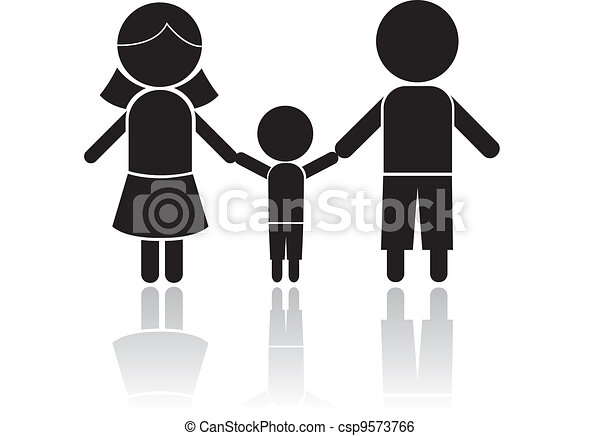 family stick figure - csp9573766