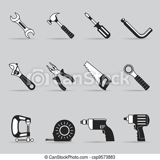 Single Color Icons - Hand Tools - csp9573883