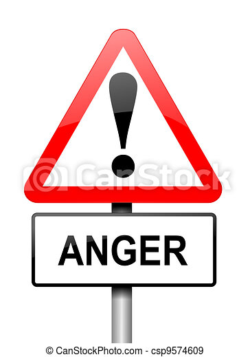 Anger warning - csp9574609