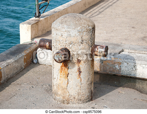The Old concrete cleat of pier - csp9575096