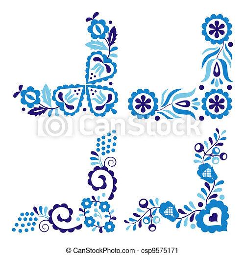 Traditional folk patterns - csp9575171