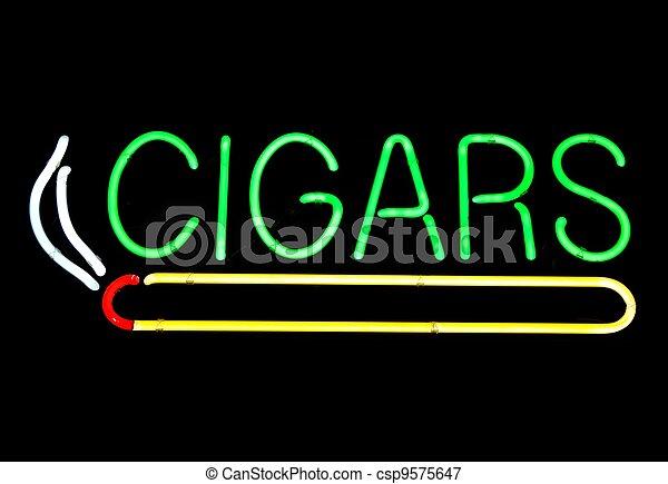 Neon Sign At Cigar Store - csp9575647