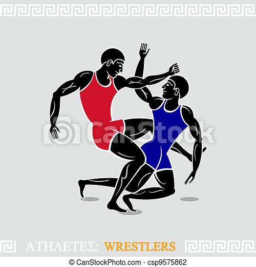 Athlete Wrestlers - csp9575862