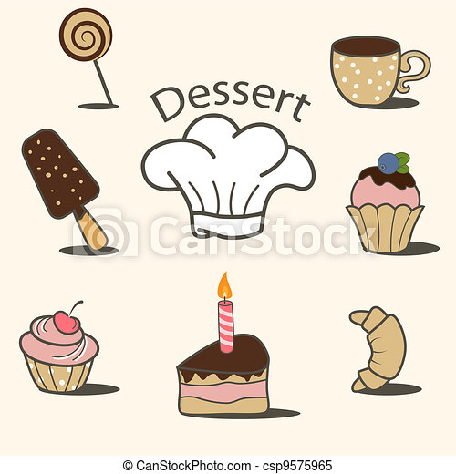 Dessert icons - csp9575965