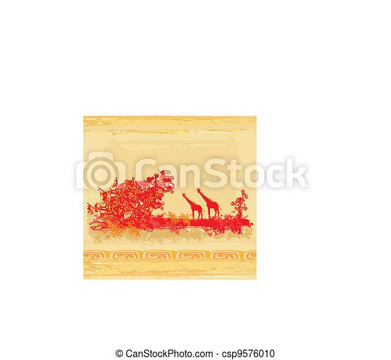 African fauna and flora  - csp9576010