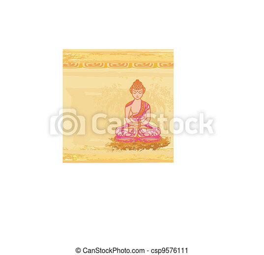 Artistic Buddhism Pattern - csp9576111
