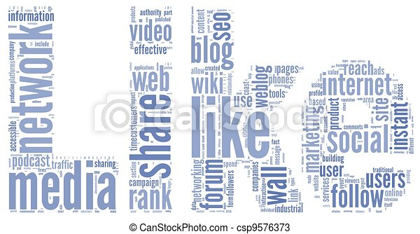 Like symbol in tag cloud on white - csp9576373