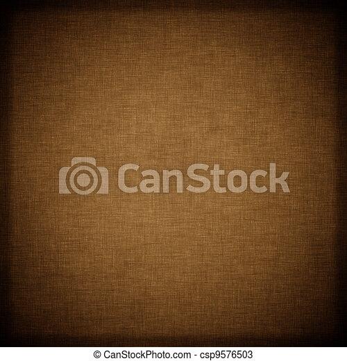 Dark brown vintage textile background  - csp9576503