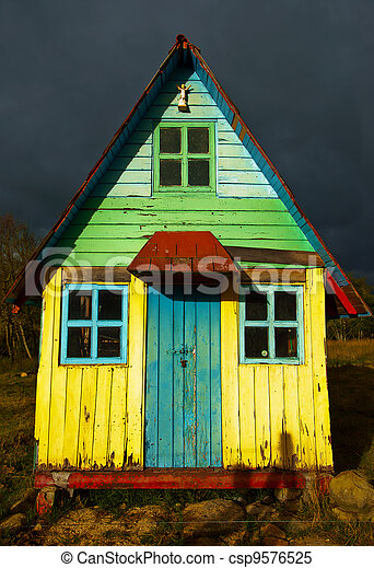 A Rustic Colorful House - csp9576525