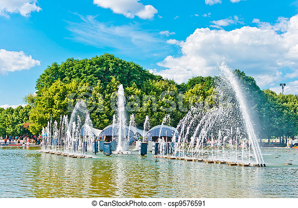 Fountain in Gorky Park, Moscow - csp9576591