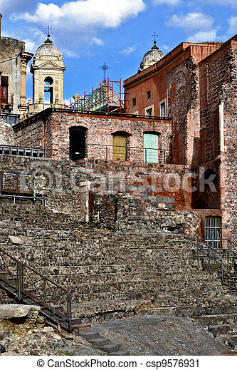 Roman Theatre of Catania - csp9576931