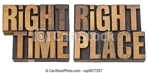 時間, 木頭, 權利, 地方, 類型 - csp9577257