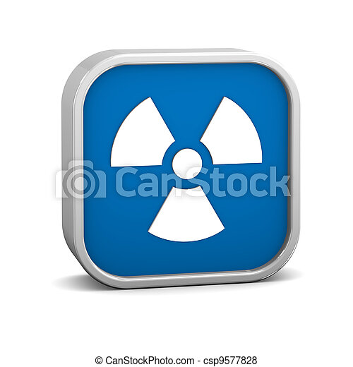 Radiation sign - csp9577828