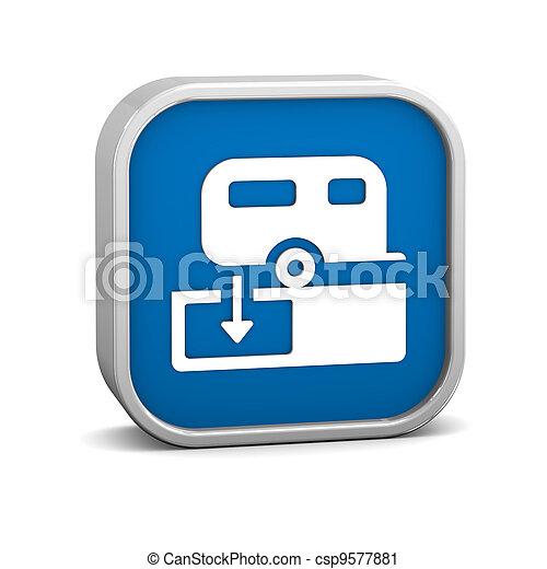 Sanitary Disposal Station sign - csp9577881