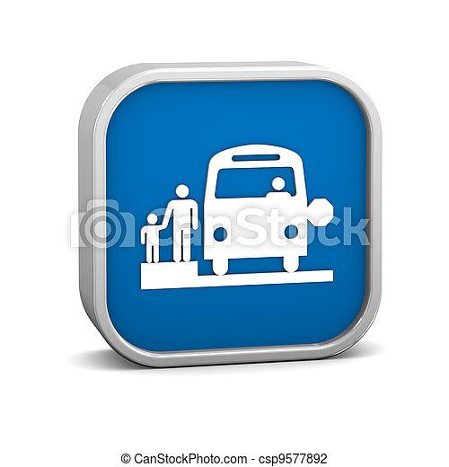 School Bus Stop sign - csp9577892