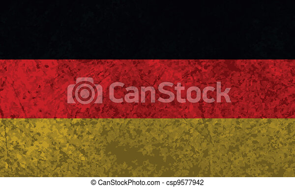 German Flag Grunge - csp9577942