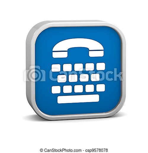 Telecommunications device for the deaf sign - csp9578078