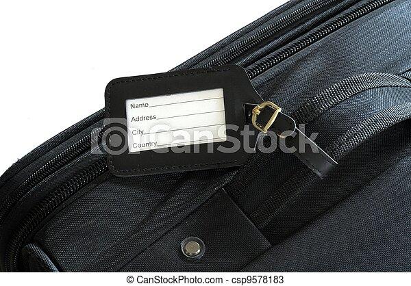 suitcase label - csp9578183