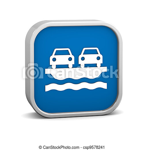 Vehicle Ferry sign - csp9578241