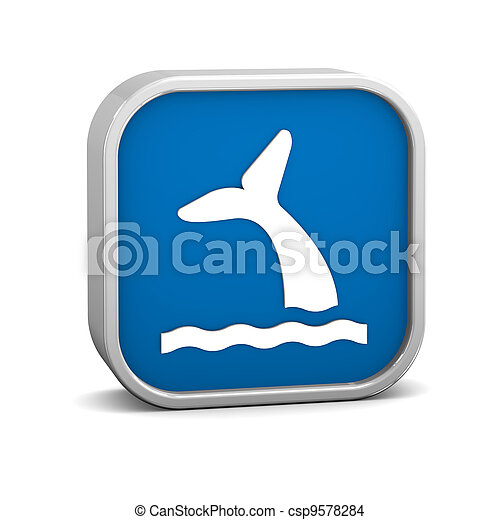 Whale Viewing sign - csp9578284