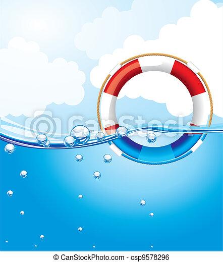 float over water - csp9578296