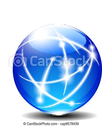Blue Sphere - csp9578439