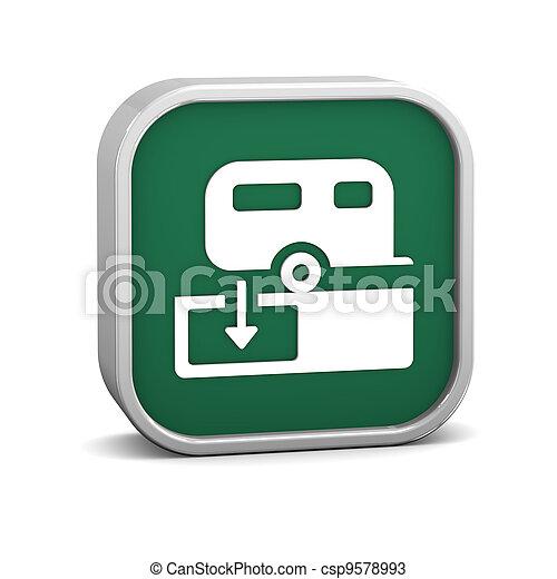 Sanitary Disposal Station sign - csp9578993